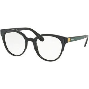 Prada Round Eyeglasses Black / Grey / Yellow w/Dem